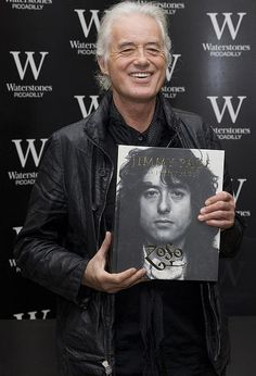 Jimmy Page arriving at his book signing in London