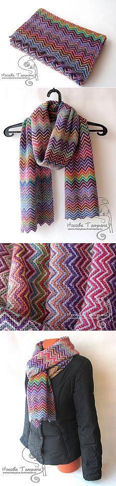 Очень красивый и позитивный шарф