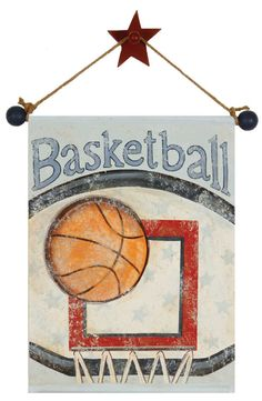 basketball artwork hand painted canvas for boys by AveQcollection