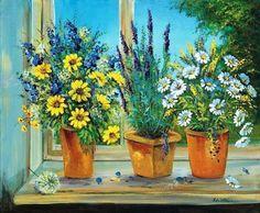 Katharina-Schoettler-Capable-Creations-Keilrahmen-Bild-Leinwand-Blume-Fenster