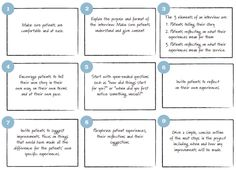Story guide for patient interviews: health care codesign
