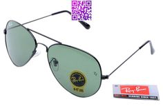 Ray-Ban Aviator 3025 Black Frame Black Lens RB1006