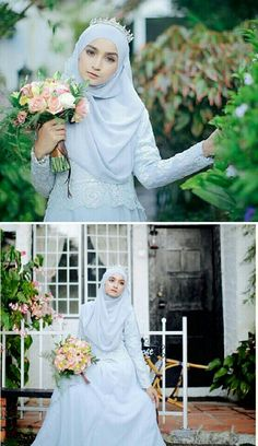 Hijab & wedding dress