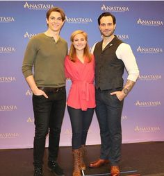 """""""The stars of meet the press! Anastasia Broadway, Anastasia Musical, Princess Anastasia, Theatre Geek, Music Theater, Broadway Nyc, Broadway Shows, Christy Altomare, The Music Man"""
