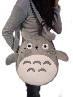 totoro bolsa cosplay de 35 cm redonda o cuadrada afelpadita