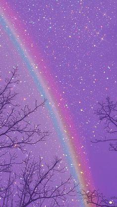 Purple Wallpaper Phone, Cute Galaxy Wallpaper, Iphone Wallpaper Sky, Night Sky Wallpaper, Phone Wallpaper Images, Rainbow Wallpaper, Glitter Wallpaper, Cute Wallpaper Backgrounds, Pretty Wallpapers