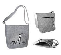 Dámské filcové kabelky jsou navrženy Petrem Markem.  Designy MarkModern jsou originální v kvalitě ušití a designu.  Kabelky jsou podšité a mají uvnitř praktické kapsičky.  Dámské kabelky přes rameno určitě potěší každou ženu, která má ráda originální  věc.  Tato kabelka byla vyrobena pouze v 10 ks. Reusable Tote Bags, Design, Fashion, Moda, Fashion Styles, Fashion Illustrations