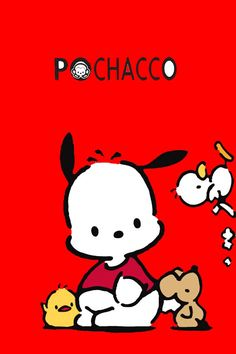 My Melody Wallpaper, Red Wallpaper, Hello Kitty Characters, Sanrio Characters, Hello Kitty Art, Sanrio Hello Kitty, Cute Backgrounds, Cute Wallpapers, Iphone Wallpapers