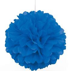 Party Souq - Blue Puff Ball Tissue Decoration|1 pc, $ 8.37 (http://www.partysouq.com/blue-puff-ball-tissue-decoration-1-pc/)