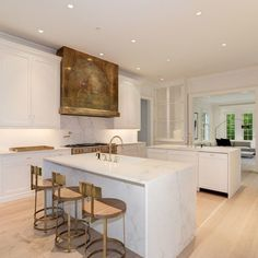 Modern Kitchen Interior Remodeling - The stately house can only be described as exquisite, inside and out Kitchen Hood Design, Kitchen Hoods, Modern Kitchen Design, Modern Kitchen Interiors, Modern Farmhouse Kitchens, Luxury Kitchens, Cool Kitchens, Kitchen Dining, Kitchen Decor