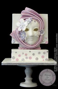 Venetian Mask - Cake by Galina Duverne - Gâteaux Sur Mesure Paris