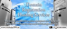 ‪#‎Website999‬ the leading ‪#‎DomainRegistration‬ & ‪#‎DomainHosting‬ services provider in ‪#‎DelhiNCR‬, makes it easy and affordable for you to get the ‪#‎domain‬ you desire for. Offer you unique #domain name to register for your ‪#‎business‬ with 24*7 support and get your customers easily find you. See more @ http://tinyurl.com/pyrfpxp