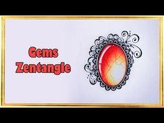 DIY ● Рисую Драгоценные камни ● Зентангл ● Gems Zentangle - YouTube Doodle Zen, Tangle Doodle, Video Gems, Gem Drawing, Doodle Art Letters, Colored Pencil Tutorial, Coloring Tutorial, Zen Art, Pattern Art