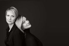 """Cynthia Nixon and Laura Linney, who will alternate roles in Manhattan Theatre Club's Broadway staging of Lillian Hellman's """"The Little Foxes,"""" which begins performances March 29, 2017. (Photo by Jason Bell for American Theatre)"""