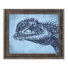 """Click Wall Art Dilophosaurus Framed Graphic Art Size: 23.5"""" H x 33.5"""" W x 1"""" D"""