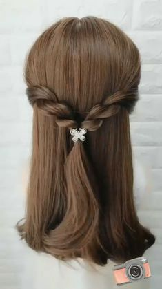 Hair Tutorials For Medium Hair, Cute Hairstyles For Medium Hair, Up Hairstyles, Easy Elegant Hairstyles, Easy Teen Hairstyles, Easy Wedding Hairstyles, Young Girls Hairstyles, Office Hairstyles, Kawaii Hairstyles