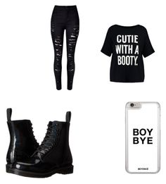 """Untitled #79"" by x5sauceloverx on Polyvore featuring Dr. Martens and Boohoo"