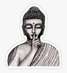 Shh ... do not disturb - Buddha - New Sticker