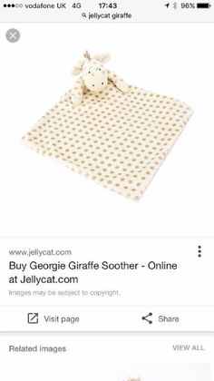 Lost at Broadway Bexleyheath on 26 Aug. 2016 by Natalie : My baby girl lost her Jellycat Giraffe comfort toy this afternoon whilst shopping with her