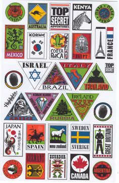 Stickers | Travel stickers | Art and design inspiration from around the world ...