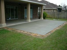 Small Concrete Patio