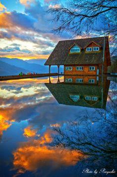 Sunset Reflection, Wuling, China  photo via nedloh126