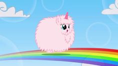 Pink fluffy unicorns dancing on rainbows!!!