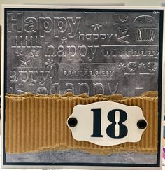 Karte zum 18.Geburtstag eines Jungen