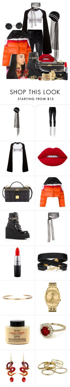 """""""🌹"""" by daddygirlk ❤ liked on Polyvore featuring Puma, Unravel, Lime Crime, MCM, Diesel, Fallon, MAC Cosmetics, Yves Saint Laurent, Maria Black and Bulova"""
