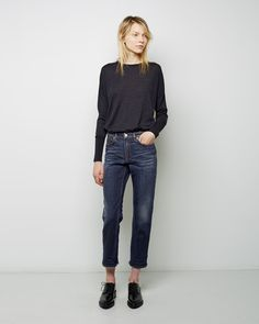 ACNE STUDIOS Row Five Straight Jean and Carel Merino Sweater