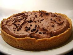Chocolate and dulce de leche pie