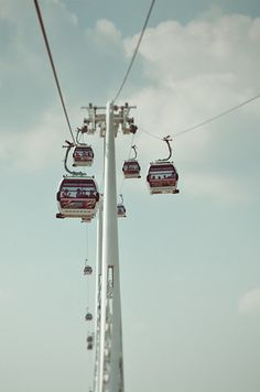 In what other city can you take a cable car ride to get a skyline view?