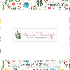 Cactus & Flower Logo Design and Blog Header -Limited Edition, OOAK option! Perfect For Photographer, Boutique, Floral Stylist, Handmade Shop