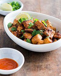 Sriracha-Garlic Tofu with Mint | Food & Wine