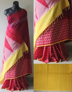 A Beauteous Pure Handloom Coton  Ikkat Saree that will get you noticed for the right reasons. It would be perfect for casual and corporate wear Measurements: Sa
