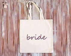 Bride Tote Bag-Wedding Tote Bag-Bachelorette Tote Bags-Canvas Tote Bag-Grocery Bag-Book Bag-Market Bag - Bridal handbags (*Amazon Partner-Link)