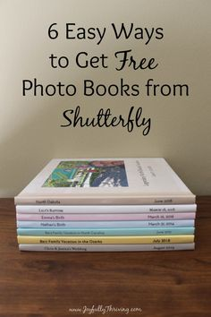6 Easy Ways to Get Free Photo Books from Shutterfly I love getting free photo books! These 6 easy ways to get free photo books from Shutterfly really d Create Photo Album, Make Photo, Photo Album Book, Family Photo Album, Free Photo Book, Shutterfly Photo Book, Digital Photo Album, Family Yearbook, Foto Fun