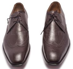 Classy Dark Brown Formal Leather Shoes Rich style formal brown leather shoes Made from naturally derived animal leather Threading is done with expertise and visible on outsole Attractive toes to give shoes a pointed look Stitching and designing is also luxuriously done Central lacing system with a touch of elegance Com