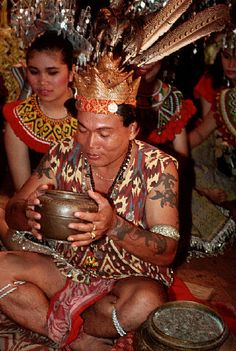 Dayak People, Kalimantan Island, Indonesia.