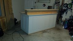 Special order counter..made out of 2 doors.