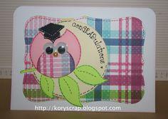 Kory B. Tarjeta de graduación búho Punch art