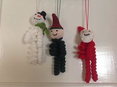 Ravelry: Slinky Christmas Characters pattern by Selena Wallace