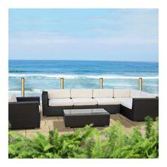 outdoor modern sofa, garden sofa set, rattan sofa set, sofa furniture
