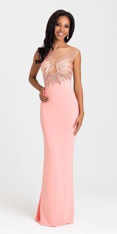 Madison James Illusion Prom Dress