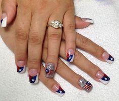 july 4th nails art