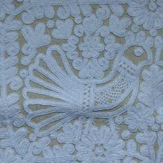 parna vintage linen and hemp: Writing stitch from Transylvania