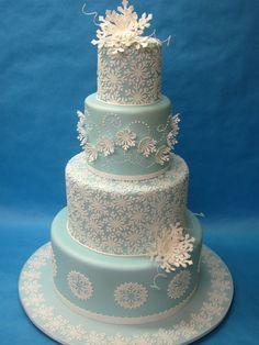 Lovely snowflake cake