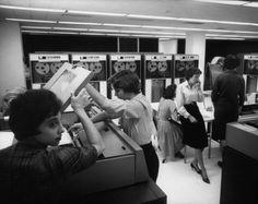 IBM computer lab, 1961