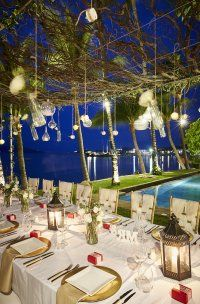 Romantic wedding dinner setting, Koh Samui #samui #wedding