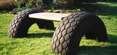 What a great bench!  How to get the wood to attach to the tires?
